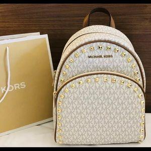 $398 Michael Kors Abbey Backpack Handbag MK Bag